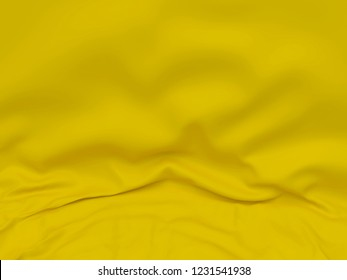 Beautiful Gold Satin for Drapery Abstract Background. Yellow Silk Fabric.