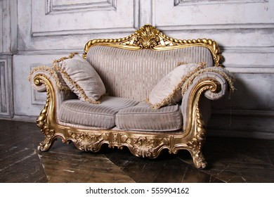 beautiful gold sofa