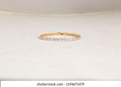 Beautiful golden Bracelet with diamonds