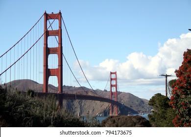 Beautiful Golden Gate Bridge in San Francisco -- USA