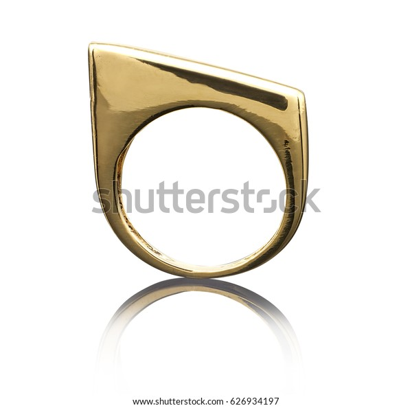 beautiful Golden ring isolated on white background.