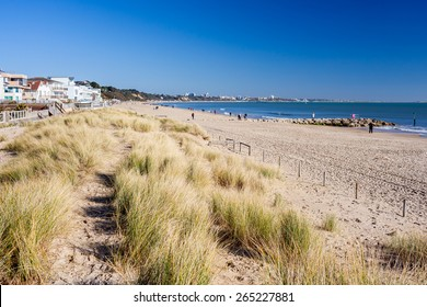 Beautiful golden sandy beach at Sandbanks Dorset England UK Europe