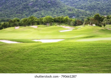 beautiful golf course at the moutain side