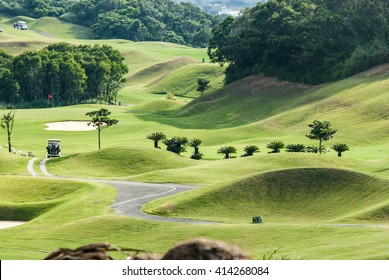 The beautiful golf place with nice green color, Taiwan