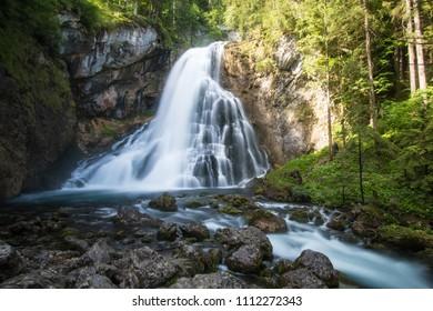 Beautiful Gollinger waterfall in Austria