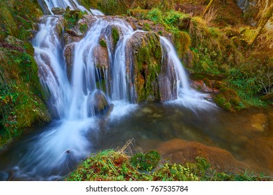 Beautiful Gostilje waterfall in Zlatibor, Serbia.