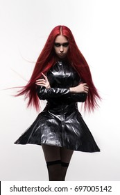 Beautiful goth mistress evil girl
