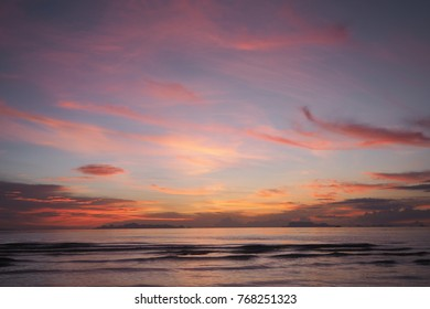 beautiful gradient sunset by the sea