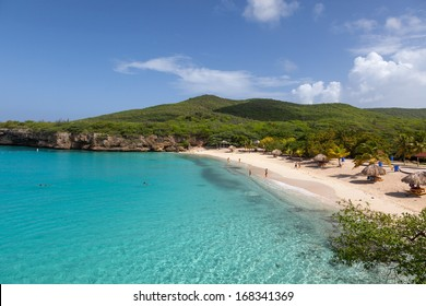 The beautiful Grande Knip Beach on the island of Curacao Caribbean