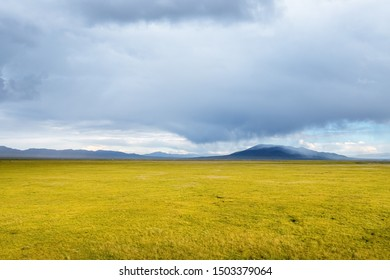 beautiful grassland scenery, unpredictable weather, gonghe county, qinghai province, China