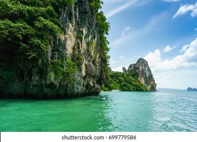 Beautiful great island is about half way between Aonang and Hong island, Krabi, Thailand