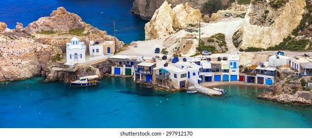 beautiful Greek islands - Milos, traditional Fyropotamos village