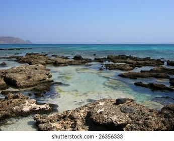 The beautiful Greek sea in Elafonisi