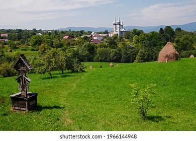 Beautiful green landscape in the famous Breb village , Maramures, Romania