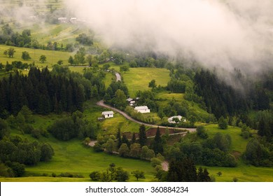 Beautiful green landscape in spring time and rural areas of north east of Turkey country, Savsat, Artvin
