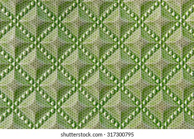 Beautiful Green Leather texture background.