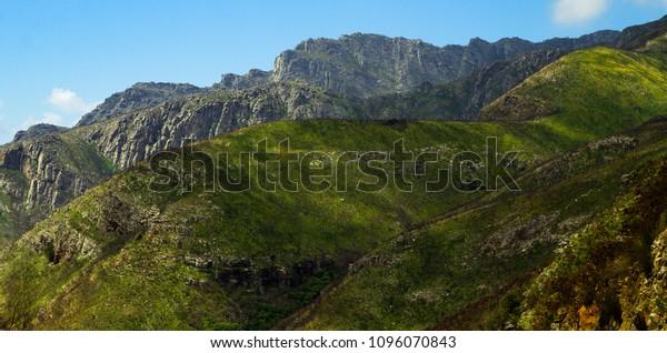 Beautiful green majestic mountainous valleys