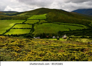 beautiful green mountain landscape on Dingle peninsula, Ireland