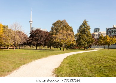 Beautiful green park in the city of Toronto, Canada