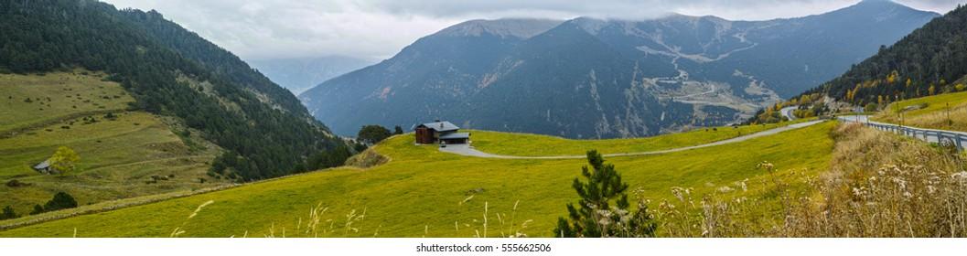 Beautiful green scenery in Andorra