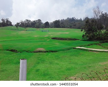 Beautiful greenish golf course in Kodaikanal