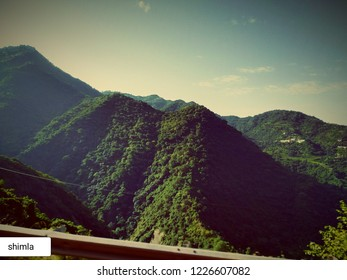Beautiful greenish mountains