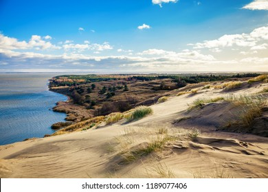 beautiful Grey Dunes at the Curonian Spit in Nida, Neringa, Lithuania