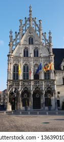 The beautiful Grote Markt of Mechelen in the Flandres, Belgium - Great view of the square and of the buildings