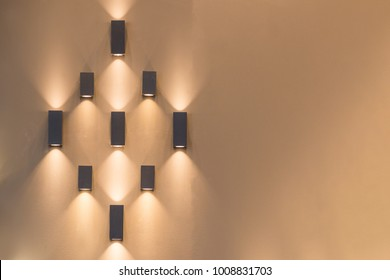 Beautiful group of modern wall lamp interior contemporary decoration
