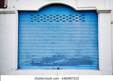 beautiful grunge blue pattern,texture,surface and background of metal sheet,iron plate painted color