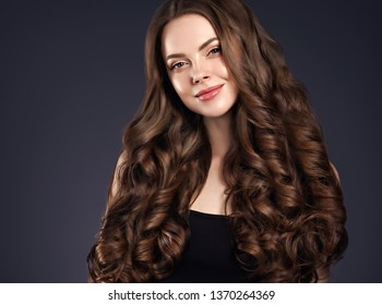 Beautiful hair and skin woman long brunette beauty hairstyle