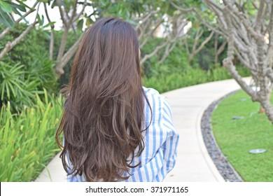 Beautiful hair woman