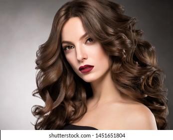 Beautiful hair woman long hairstyle beauty makeup