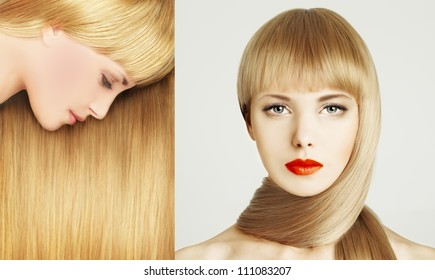 Beautiful hair - woman with make-up