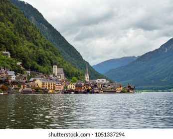 Beautiful Hallstatt village and alpine lake. Hallstatt is famous place in Austria, region of Salzkammergut, Europe.
