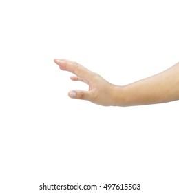 Beautiful  hand  isolated on white background