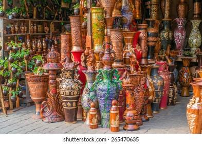 Beautiful handmade clay pots.