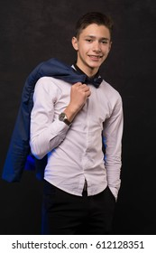 beautiful  Handsome cute young man in shirt