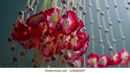 Beautiful hanging decorative artificial flowers unique photo