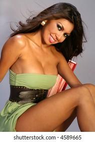 Beautiful Happy Hispanic Woman