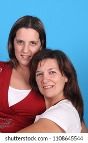 beautiful happy sisters