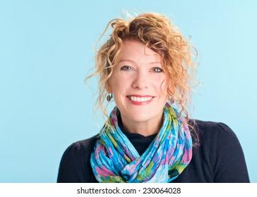 Beautiful happy smiling woman portrait