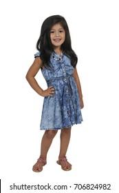 Beautiful happy stylish hispanic latino little girl