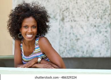 Beautiful happy woman.