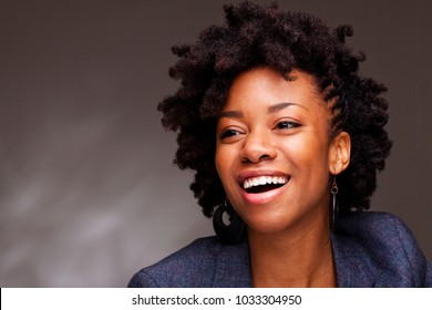 Beautiful happy woman with a friendly smile.