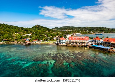 beautiful Harbor Roatan Honduras Caribe