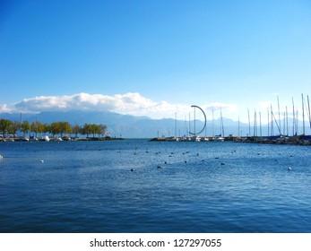 beautiful harbour in Swiss