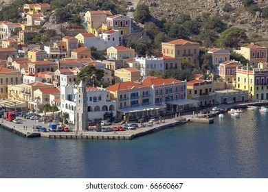 The beautiful harbour of Symi, Greece
