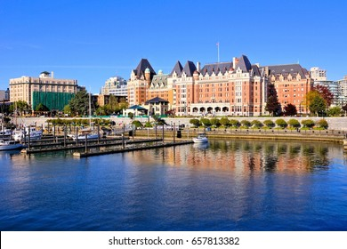 Beautiful harbour view with reflections, Victoria, Vancouver Island, BC, Canada