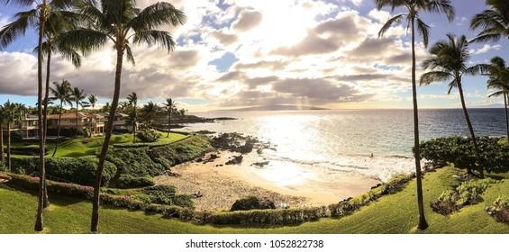 Beautiful Hawaiian beach, Makena Beach